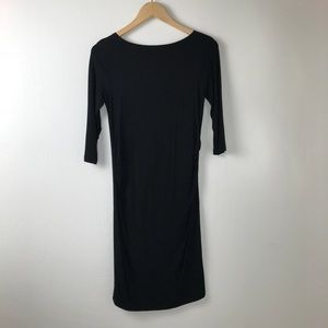 Dresses & Skirts - Black 3/4  Sleeve Maternity Dress